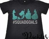 Princess #Squadgoals, Princess Squad Goals Tee Graphic, Digital Download, Disney Princess Squadgoals SVG, Cricut Princess SVG