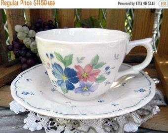 Tea Cup Teacup and Saucer - Floral Japanese Porcelain, Nikko 11096