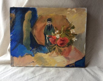 Vintage Cape Cod Still Life Painting  Still Life Orientalist Style