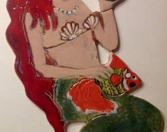 Mermaid Tile for Install Stoneware