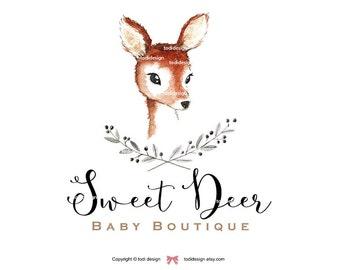 Sweet Deer Premade Logo design -  Baby Boutique,  Photography Logo Design
