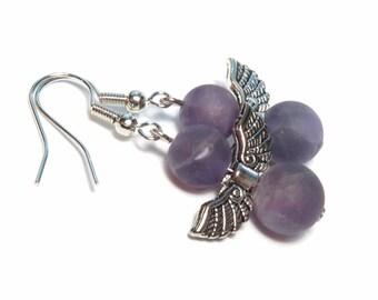 Angel Amethyst Gemstone Earrings