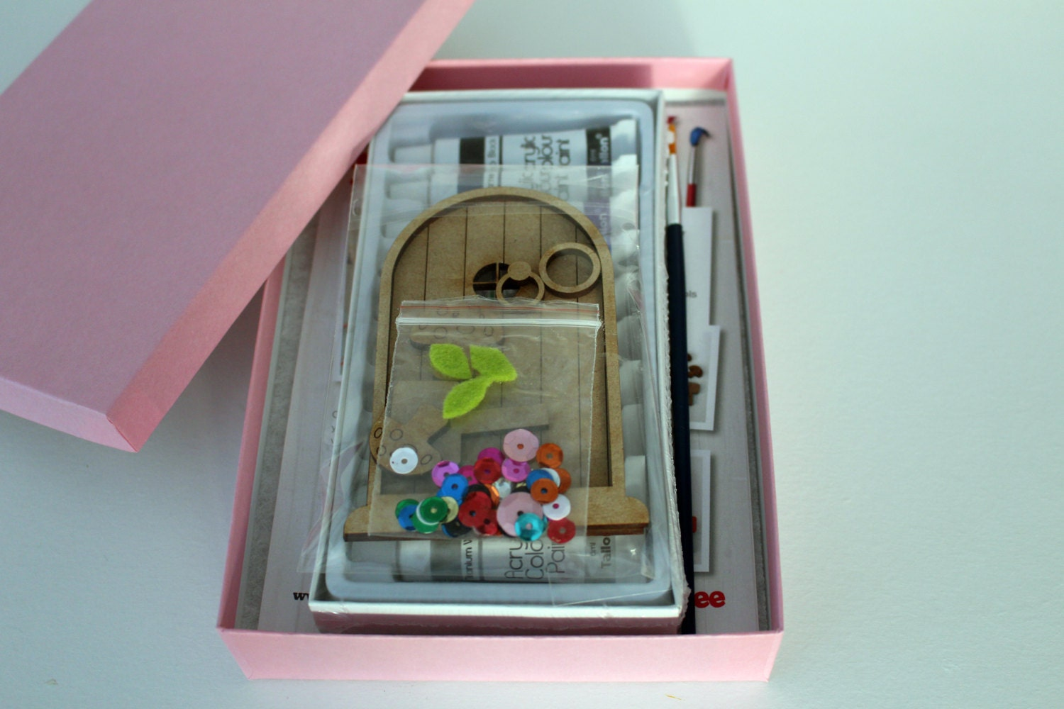 Paint your own fairy door craft kit from flitterbeecrafts for Fairy door kits canada