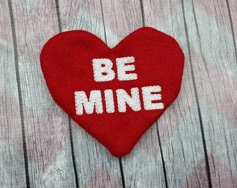Be Mine conversation heart stuffed pillow, gift a heart, heart stuffy, Valentine gift decor