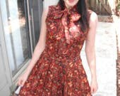 Mad Men Sleeveless Paisley Vintage Dress