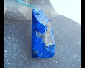 Lapis Lazuli Gemstone Pendant Bead,Faceted Pendant,33x17x9mm,8.4g(d0200)