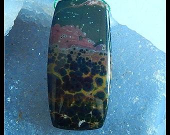 New,Ocean Jasper Pendant Bead,50x24x7mm,16.4g