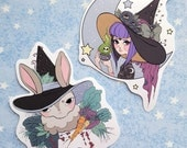 Witchy Bunny Girl Sticker Set