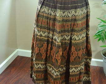 Vintage Disney Skirt Hand Woven by Guatemalan Weavers for Disneyland - M