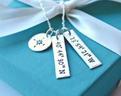 Personalized GPS Coordinate Necklace - Hand Stamped GPS Coordinate Jewelry - Personalized GPS Coordinate Jewelry - Custom Necklace -  gps -