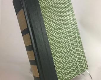 Book Letter Handmade Vintage Condensed Readers Digest Upcycled Green C0088