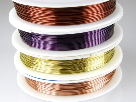22 gauge colored copper wire for wire wrapping jewelry for 22 gauge craft wire