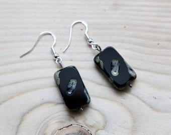 Sterling Silver & Czech Glass beads