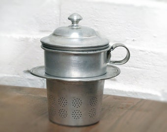 French Coffee Maker , Single Cup Drip O Lator in embossed metal