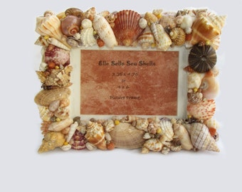 """Sea Shells Home Decor Picture Frame 3.25"""" x  4.75"""" or  4"""" x 6"""""""