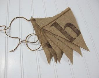 HOWDY burlap banner