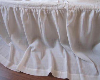 sale Ivory Linen bedskirt skirted king bedding 20 inch drop Dust ruffle Bed skirt solid ivory bed valance king ruffled 20x36 pillow sham