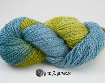 Hand Dyed Chunky Weight Alpaca Yarn - Made in Canada- #02