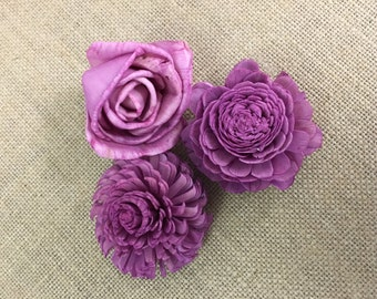 Sola flowers  -- Violet Purple - Pick style or a mix of multiples - 18 flowers