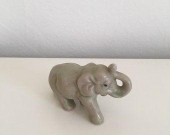 Animal Figurine Elephant Vintage Knick Knack Home Decor Japan