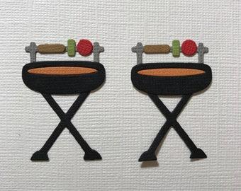 BBQ Embellishments Die Cuts Bar-B-Que Outdoors Summer Australian Fully Assembled Set of 2