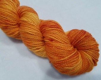 Adora-Baby Alpaca/Merino/Cultivated Silk 45/45/10 Hand Dyed Yarn-3.5 ounces/245 yards-Orange and Gold