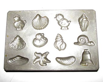 Vintage Candy Chocolate Mold Metal Mold