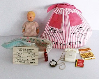 Vintage Barbie Accessories, Vintage Barbie Baby Sitter, 1960s Barbie