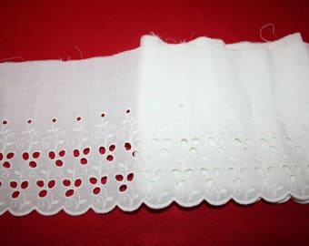 Vintage Embroidered Eyelet Edging- almost 2 yards