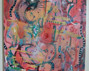 Expressionistic Abstract Painting Acrylic