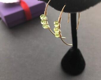Peridot Green Earrings, Peridot Jewelry, Gold Green Jewelry, Gemstone Earrings, August Birthstone Earrings, Spring Jewelry