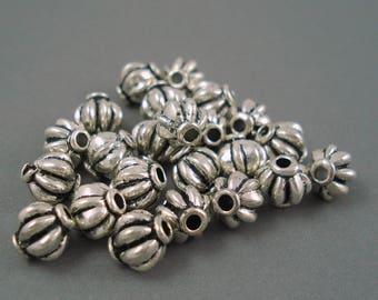 Destash Silver Tone Spacer Bead 8MM 23 Pieces