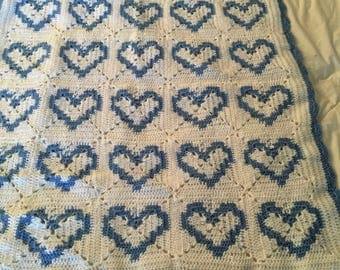 Crocheted Heart Blanket