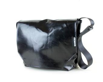 Messenger Bag made from Upcycled Truck Tarp, Water resistant Laptop Bag, Courier Bag, Satchel, Shoulder Bag (P08)