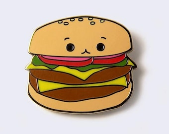 Cheeseburger Enamel Pin