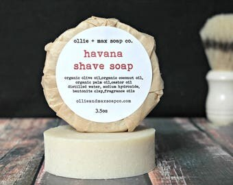 VACATION SALE  Havana Shave Soap, Vegan Shave Soap, Made in the USA