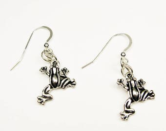 Frog Earrings - Animal Jewelry for Amphibian Lover, Biology Teacher, or Pet Owner