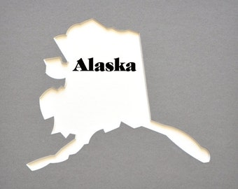 "US State Map Cutout 8""x10"" or 11""x14""  photomat photo mat photo mats picture mat alaska USA map"