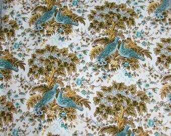 2 Pair Vintage Waverly Cotton Fabric Drapes - 4 panels @ 32x58 - Castelon Manor