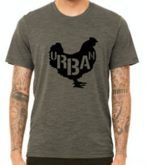 URBAN chicken farmer Unisex t-shirt Pictured in Olive