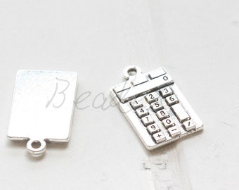 6 Pieces / Calculator / Oxidized Silver / Base Metal / Charm 13*23mm (X808//H416)