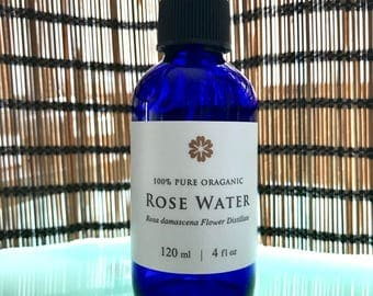 100% Pure Organic Rose Water