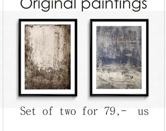 painting  nice abstract painting blue grey acrylic painting   wall art  from jolina anthony