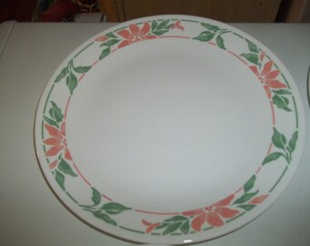 4 Corelle Island Breeze Dinner Plates, Made in the USA