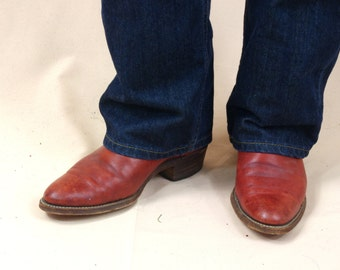 Mens Frye Boots * Burgundy Boots * Mens Ankle Boots * Mens Cowboy Boots * Burgundy Western Boots * Ranch Boots * Frye Ankle Boots * 9 D
