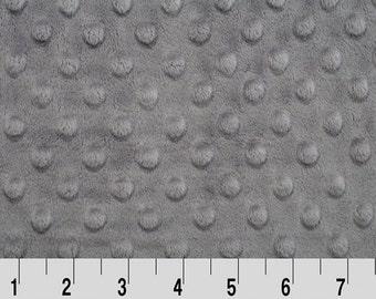 1 Yd Minky Dot Graphite (Shannon Fabrics)