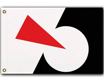 Sci-Fi PEACEKEEPER Flag, 3' x 2' Lissitzky Suprematism