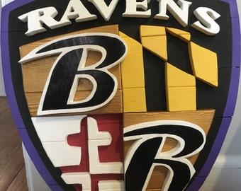 Baltimore Ravens Logo Shield