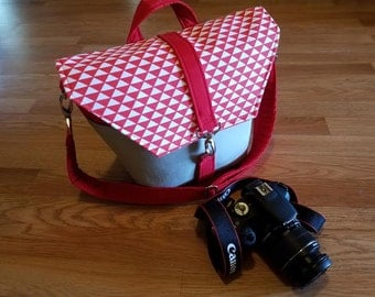 New-Camera bag-Digital SLR camera bag-Dslr camera case-purse-womens camera bag-RED DIAMOND