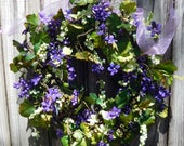 Spring/Summer Wreath For The Front Door , Wreath , Wreath For The Door , Summer Door Wreath ,  Outdoor Wreath , Ready Ship